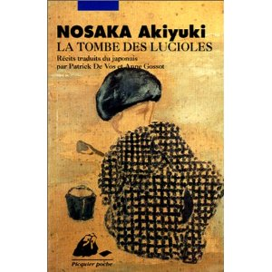 """1ère de couverture """"La tombe des lucioles"""" de Akiyuki NOSAKA. Editions Philippe Picquier"""