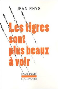 """1ère de couverture """"Les tigres sont plus beaux à voir"""" Editions Gallimard l'Imaginaire"""