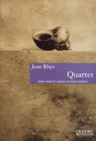 """1ère de couverture """"Quartet"""" de Jean Rhys éditions Denoël & d'ailleurs"""