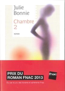"""1ère de couverture """"Chambre 2"""" de Julie Bonnie aux Editions Belfond"""