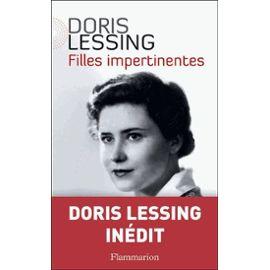 """1ère de couverture """"Filles impertinentes"""" de Doris Lessing aux éditions Flammarion"""